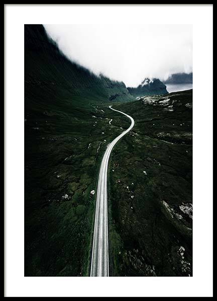 Winding Roads Poster in the group Prints / Sizes / 50x70cm | 20x28 at Desenio AB (3315)