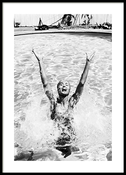 Swimming Girl Poster in the group Prints / Photographs at Desenio AB (3326)