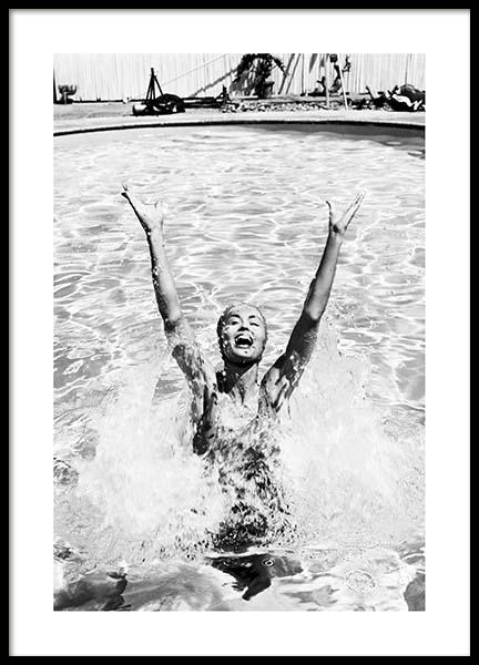 Swimming Girl Poster