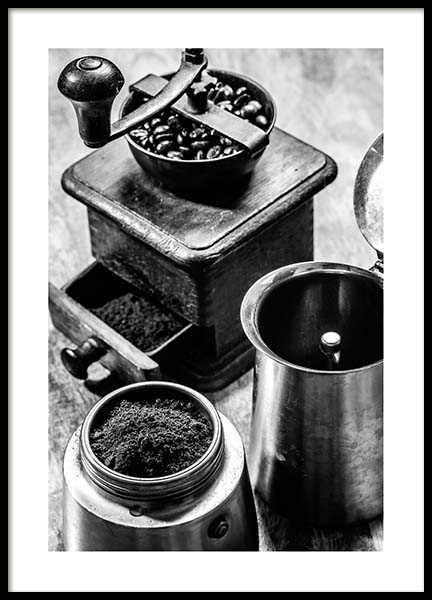 Moka Espresso Poster in the group Prints / Black & white at Desenio AB (3331)