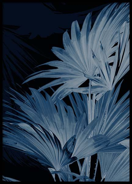 Blue Plant Two Poster in the group Prints / Floral at Desenio AB (3341)
