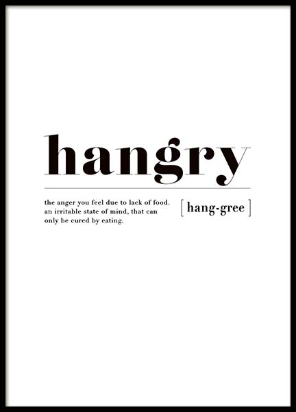 Hangry Poster in the group Prints / Sizes /  at Desenio AB (3347)