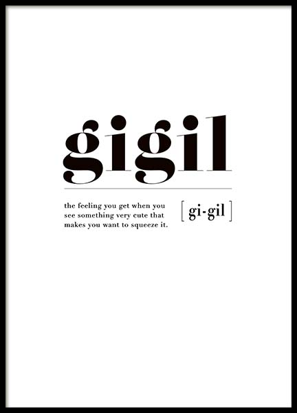 Gigil Poster in the group Prints / Sizes /  at Desenio AB (3348)