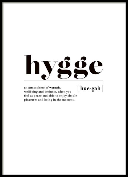 Hygge Poster in the group Prints / Typography & quotes at Desenio AB (3349)
