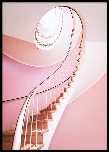 Pastel Pink Stairs Poster in the group Prints / Photographs at Desenio AB (3360)