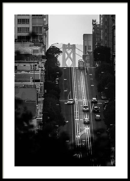 Streets Of San Francisco Poster in the group Prints / Black & white at Desenio AB (3361)