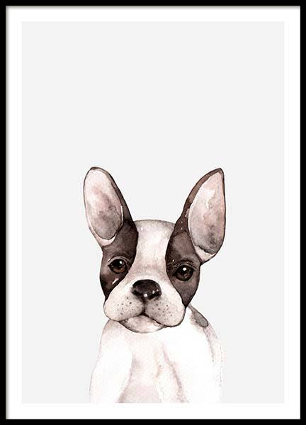 Little Puppy Poster in the group Prints / Kids at Desenio AB (3366)