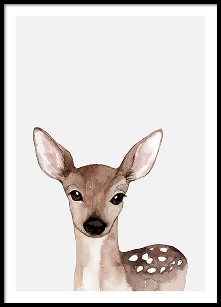Little Deer Poster in the group Prints / Sizes / 30x40cm | 12x16 at Desenio AB (3369)