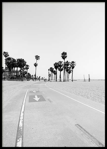 Santa Monica Bike Path Poster in the group Prints / Sizes / 50x70cm | 20x28 at Desenio AB (3372)
