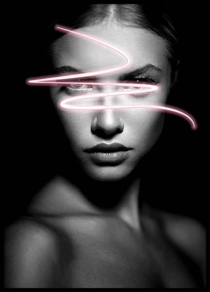 Neon Stare Poster in the group Prints / Photographs at Desenio AB (3380)