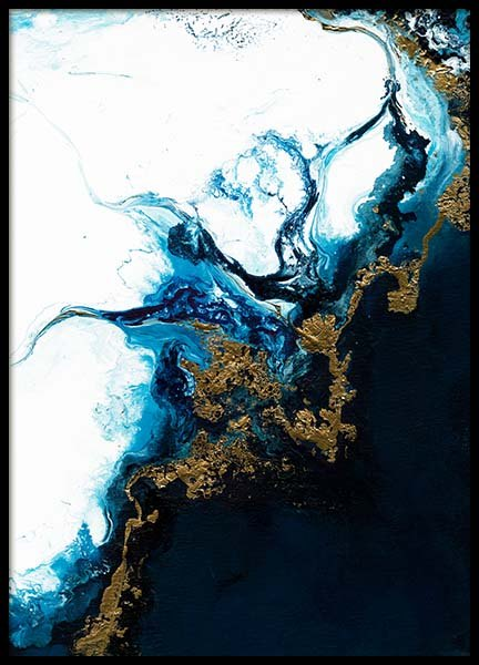 Blue Tide Poster in the group Prints / Sizes / 50x70cm | 20x28 at Desenio AB (3398)