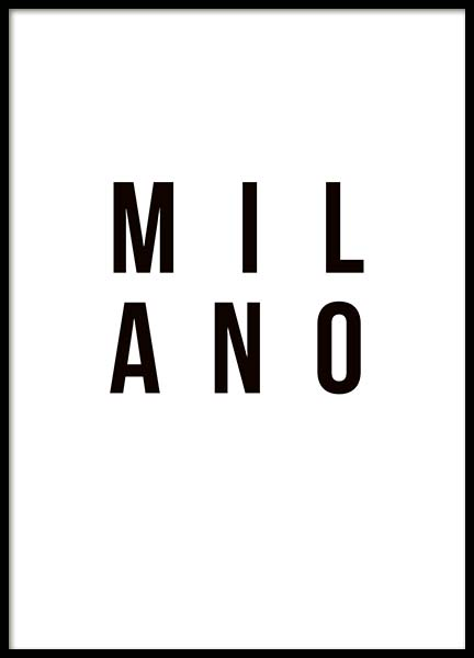 Milano Poster in the group Prints / Maps & cities at Desenio AB (3401)