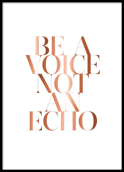 Be A Voice Poster in the group Prints / Text posters at Desenio AB (3402)