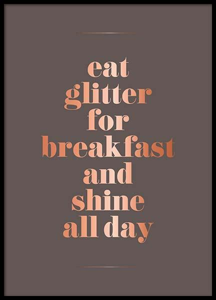 Eat Glitter Poster in the group Prints / Text posters at Desenio AB (3405)