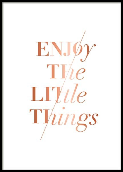 Enjoy The Little Poster in the group Prints / Text posters at Desenio AB (3406)