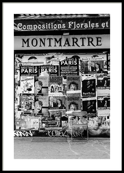 Montmartre Poster in the group Prints / Black & white at Desenio AB (3431)