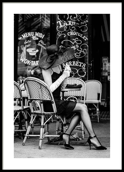 Lady In Black Poster in the group Prints / Black & white at Desenio AB (3433)
