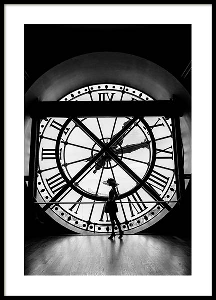 What's The Time? Poster in the group Prints / Black & white at Desenio AB (3434)