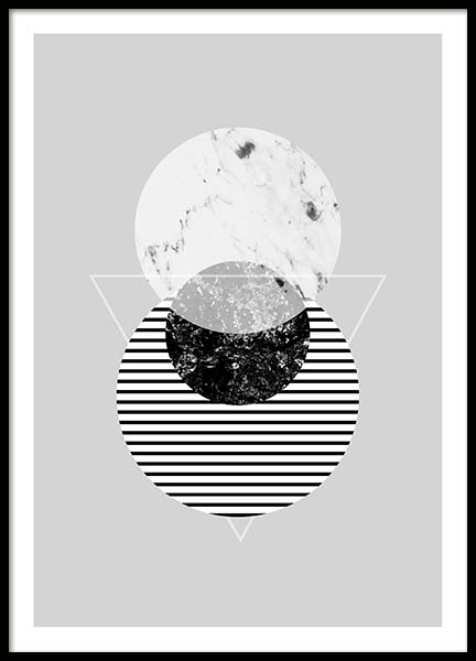 Graphic Planets 2 Poster in the group Prints / Black & white at Desenio AB (3443)