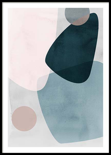 Graphic Pastels 1 Poster