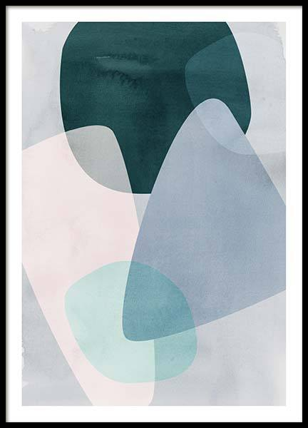 Graphic Pastels 2 Poster in the group Prints / Art prints at Desenio AB (3450)