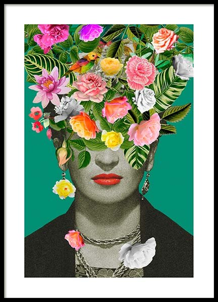 Frida Floral 1 Poster in the group Prints / Art prints at Desenio AB (3456)