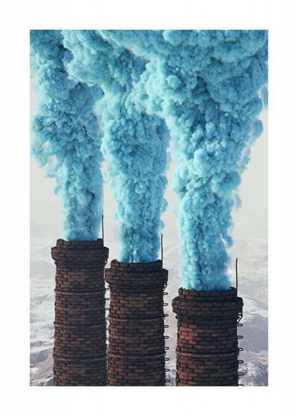 Blue Eruption Poster in the group Prints / Photographs at Desenio AB (3463)