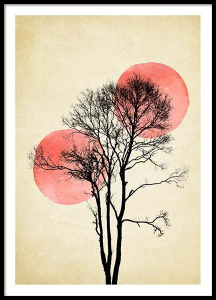 Moon And Sun Poster in the group Prints / Art prints at Desenio AB (3465)