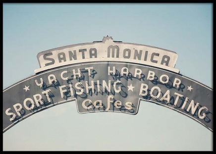 Santa Monica Poster in the group Prints / Maps & cities at Desenio AB (3466)