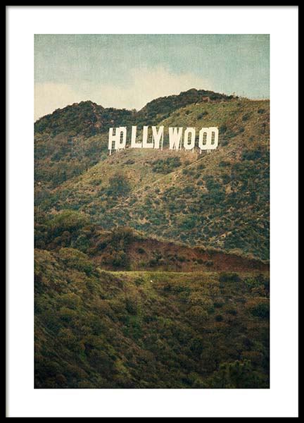 Hollywood Poster in the group Prints / Maps & cities at Desenio AB (3468)
