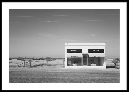 Irony in Texas BW Poster in the group Prints / Sizes / 50x70cm | 20x28 at Desenio AB (3471)
