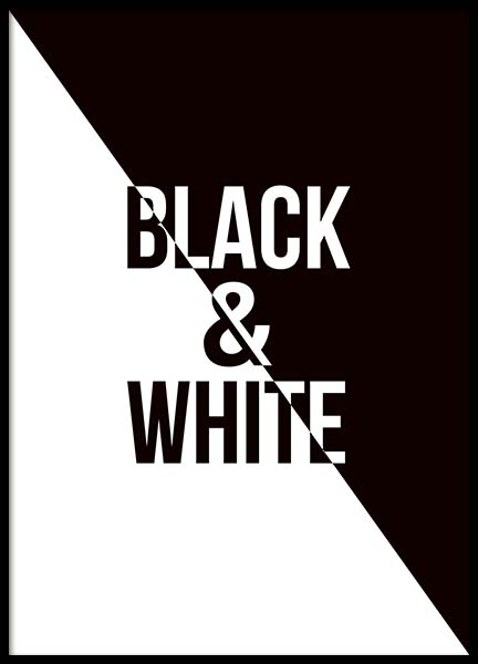 Black & White Poster in the group Prints / Typography & quotes at Desenio AB (3482)