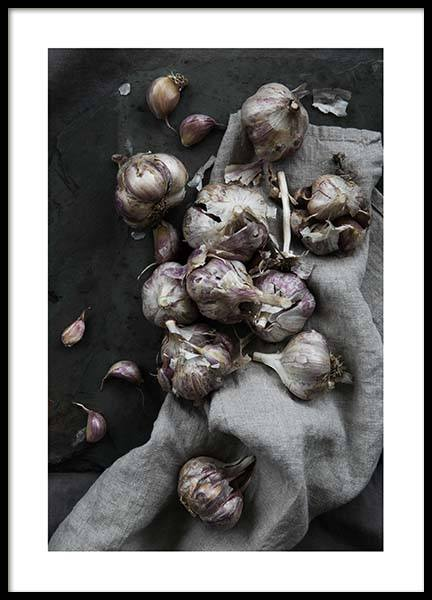 Garlic No1 Poster in the group Prints / Sizes / 50x70cm | 20x28 at Desenio AB (3483)