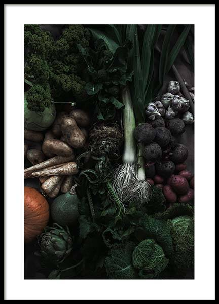 Mixed Vegetables Poster in the group Prints / Kitchen at Desenio AB (3491)