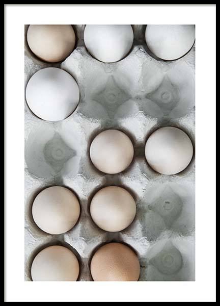 Eggs In A Box No2 Poster in the group Prints / Kitchen at Desenio AB (3493)