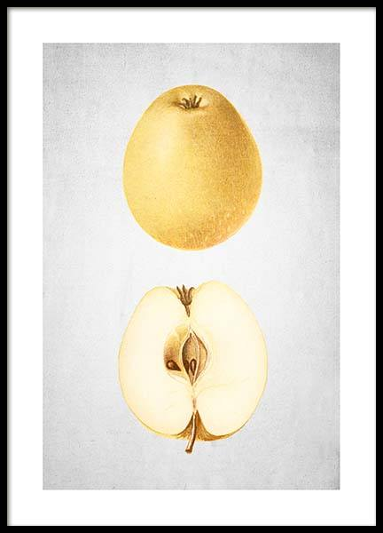 Yellow Pear Poster in the group Prints / Kitchen at Desenio AB (3510)