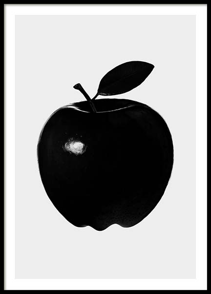 Black Apple Poster in the group Prints / Kitchen at Desenio AB (3517)