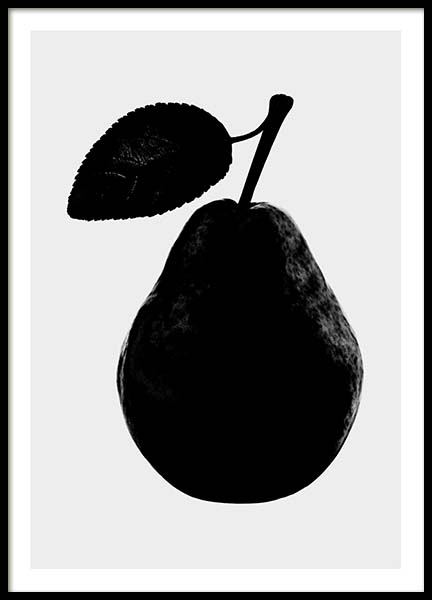 Black Pear Poster in the group Prints / Kitchen at Desenio AB (3520)