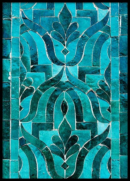 Green Oriental Mosaic Poster in the group Prints / Photographs at Desenio AB (3553)