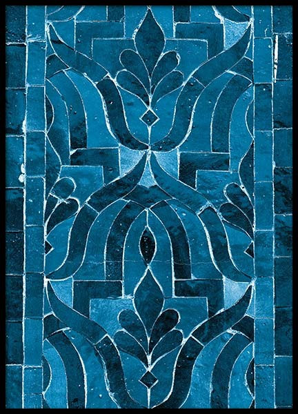 Blue oriental mosaic Poster in the group Prints / Sizes / 50x70cm | 20x28 at Desenio AB (3554)