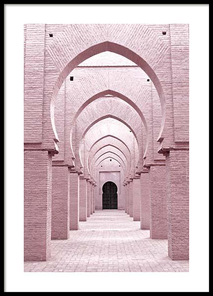 Pink Arches Poster in the group Prints / Sizes / 50x70cm | 20x28 at Desenio AB (3555)