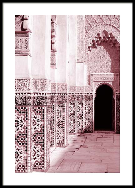 Pink Ornamental Architecture Poster in the group Prints / Photographs at Desenio AB (3557)