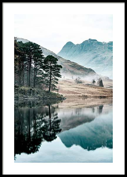 Lake Reflection Poster in the group Prints / Nature prints at Desenio AB (3571)