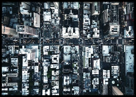 Aerial view of New york Poster in the group Prints / Sizes / 70x100cm | 28x39 at Desenio AB (3587)