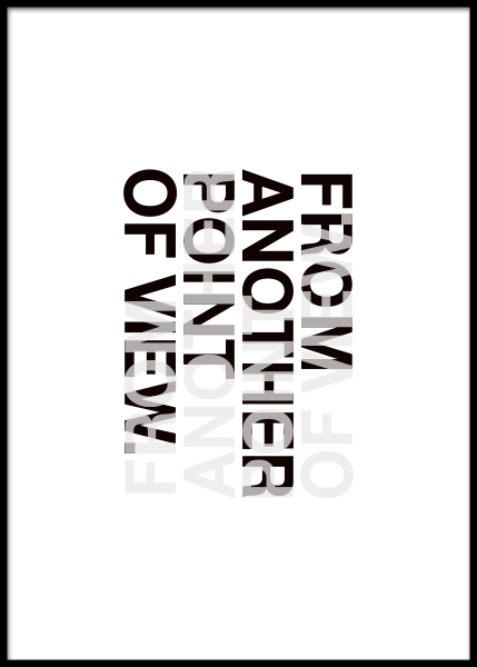 Another Point Of View Poster in the group Prints / Typography & quotes at Desenio AB (3606)