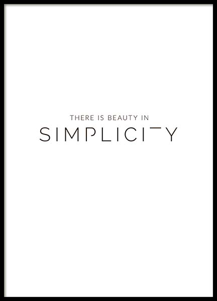 Beauty In Simplicity Poster in the group Prints / Typography & quotes at Desenio AB (3608)