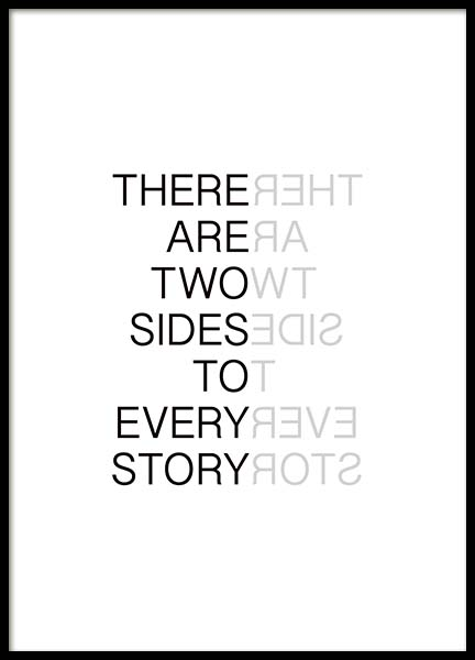 Two Sides Poster in the group Prints / Typography & quotes at Desenio AB (3621)