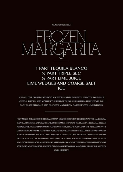 Classic Frozen Margarita Poster in the group Prints / Sizes /  at Desenio AB (3628)