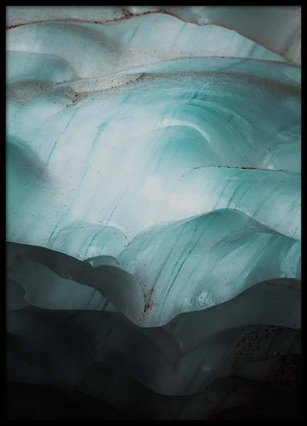 Ice Layers Poster in the group Prints / Sizes / 50x70cm | 20x28 at Desenio AB (3648)