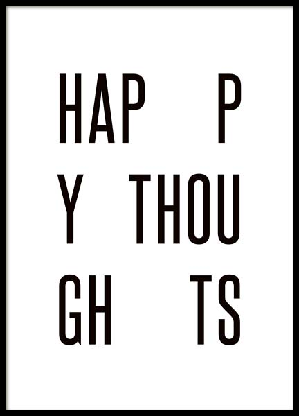 Happy Thoughts Poster in the group Prints / Typography & quotes at Desenio AB (3664)